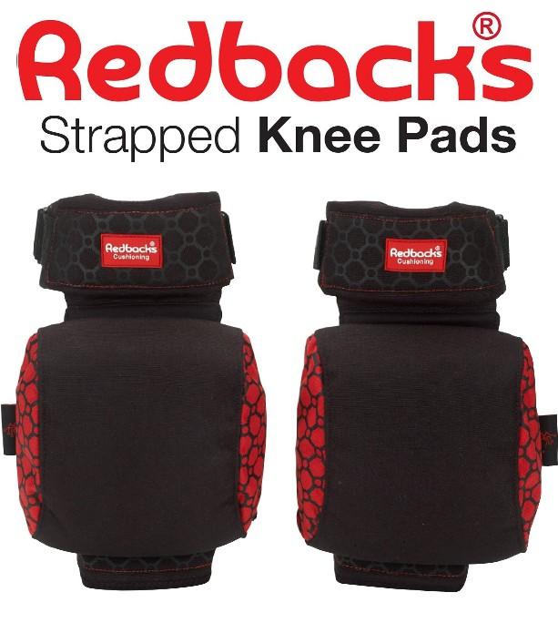 Redbacks Cushioning strapped kneepads